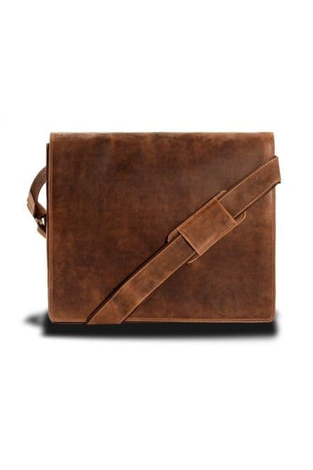Tan Messenger Bag Leather